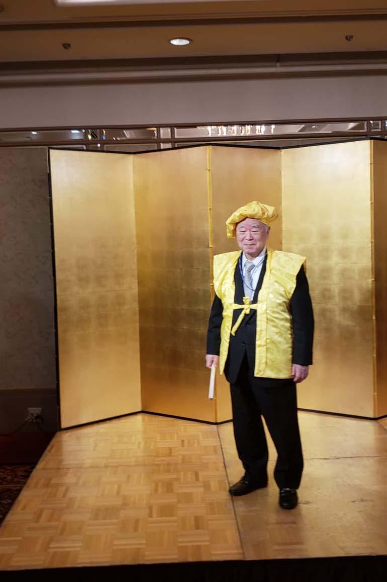 Бывший министр обороны Японии г-н Кюма Фумио отпраздновал 80-летие!