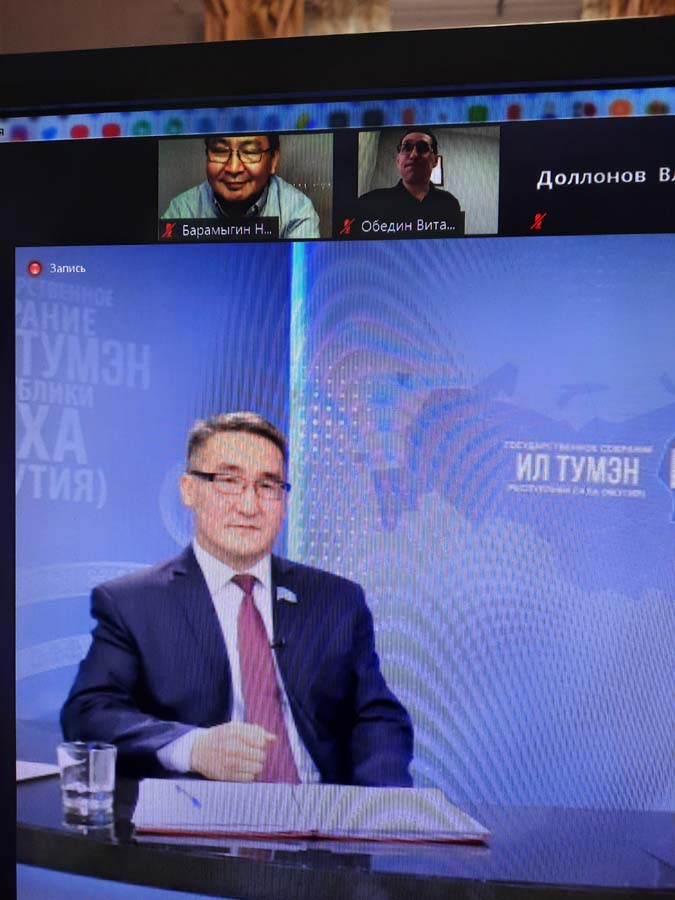 Мои вопросы на пресс-конференции спикера Ил Тумэн РС (Я) Петра Гоголева