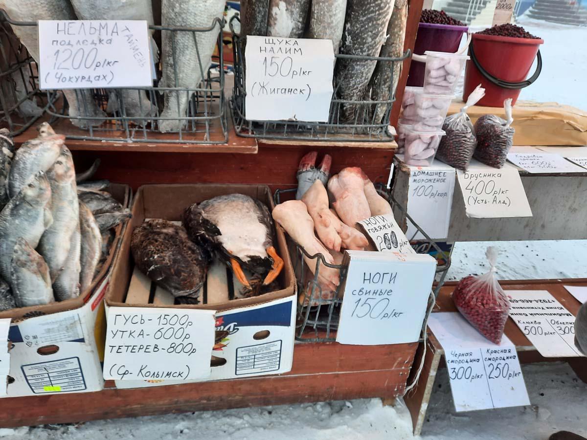 Воскресное утро на Крестьянском рынке Якутска. 7 февраля 2021 г.