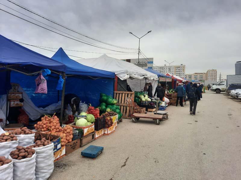 Комсомольская площадь 24.09.2021 года: картошка мелкая по 50, в среднем стоит 65-85 рублей